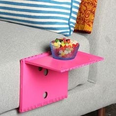 Great for when you don't have the floor space for a side table.