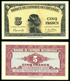 French West Africa Five Francs