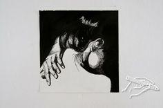 Jolanda Althuis #illustation #drawing #inkt #hand #portret