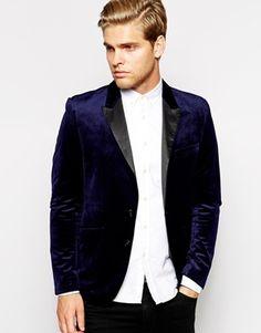 Antony Morato Velvet Blazer In Super Slim Fit