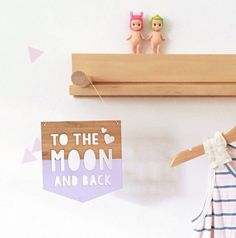 TO THE MOON AND BACK BAMBOO PLAQUE - Arlo and Co - 1