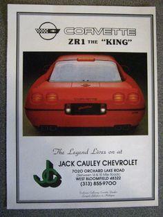 1990 Chevrolet Corvette ZR-1 2 page | 1990 Corvette Advertits ...