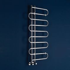 Phoenix Lizi chrome finish designer heated towel rail