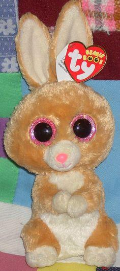 "HTF *Carrots* 2014 Ty Beanie Boo ~ 6"" Tan Bunny ~MWMT!!! WOW!!  SUPER SOFT! #Ty"