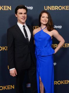 "Cast member Finn Wittrock and Sarah Roberts attend the premiere of the biographical motion picture war drama ""Unbroken"" at the Dolby Theatre in the Hollywood section of Los Angeles on December 15, 2014.   Read more: http://www.upi.com/News_Photos/Entertainment/Unbroken-premiere-in-Los-Angeles/fp/8752/#ixzz3M4n3biTB"