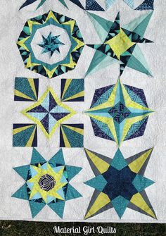 Lucky Stars blocks by Material Girl Quilts