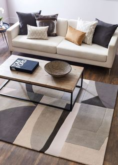Harlequin Bodega Stone 040504 Rug by Harlequin at Rugs.ie - Contemporary Geometric & Floral Rugs. Living Room Mats, Living Room Flooring, Living Room Carpet, Living Room Interior, All Modern Rugs, Stone Rug, Carpet Size, Retro Sofa, Classic Living Room