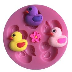 LYNCH 3D Ducks Shaped Silicone Mold Cake Candy Chocolate Moulds,Pink ^^ Quickly view this special  product, click the image : Small Pastry Molds