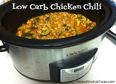 Clean Eat Recipe :: Low Carb Chicken Chili #eatclean #cleaneating #heandsheeatclean #chili #recipe #dinner