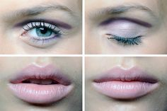 love the pink lips and eyeshadow but would want natural color eyeliner and not quite so prominent shading