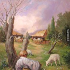 Collection of Funny Illusions - Optical Illusions - Face Illusions Stupid Funny, Funny Cute, Really Funny, Hilarious, Funny Stuff, Funny Illusions, Cool Illusions, Art Memes, Dankest Memes