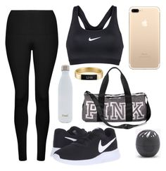 """Yes!"" by sweeterthanpies on Polyvore featuring Lorna Jane, S'well, Fitbit, NIKE, Victoria's Secret and Eos"