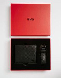872e4634e0a BOSS Hugo Boss Weave Leather Billfold Wallet   Keychain Gift Set-  7112style.website -