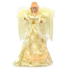 This Angel Tree Topper is so bright I can barely see her!