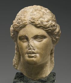 A Hellenistic Marble Head of a Goddess, Circa 3rd/2nd Century B.C.