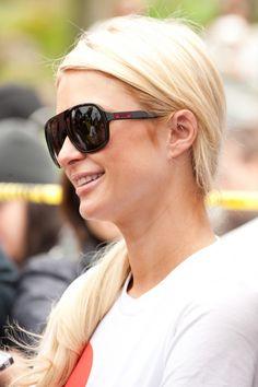 Paris Hilton sports a casual ponytail