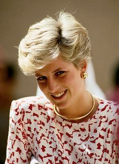 1986 Celebrity Weddings | Princess Diana Comb Over Hairstyle
