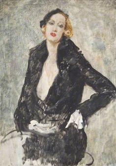 Eileen Hawthorne, by Augustus Edwin John (Welsh, Art Deco, Your Paintings, Portrait Paintings, Portrait Art, Post Impressionism, Art Database, Art Uk, Figure Painting, Illustrations