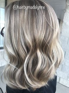 Ash Blonde Highlights On Dark Hair, Grey Blonde Hair, Hair Color Highlights, Low Lights Hair, Light Hair, Hair Color And Cut, Hair Lengths, Haircuts, Hairstyles