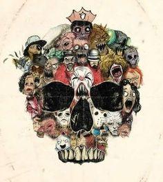 Horror character skull!