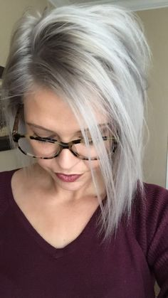 Silver hair gray hair