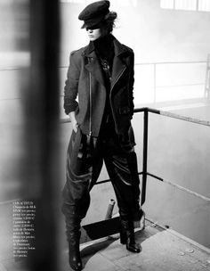 Love the pants! Personal Cualificado | Kendra Spears | Lachlan Bailey #photography | Vogue Spain October 2012