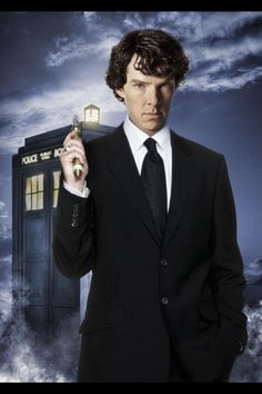 Benedict Cumberbatch as The Doctor - I would so not get anything done if this happened:-)