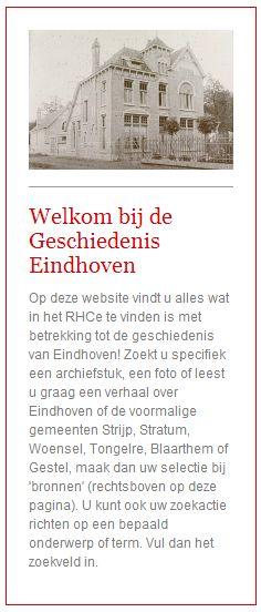 Satelliet met alles over Eindhoven ga naar: http://www.geschiedeniseindhoven.nl/
