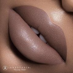 """Sepia"" liquid lipstick launching July 15th  Photo @marcelocantuphoto ✨Model @addictedtodom ✨Makeup @mariaortegamakeup  #anastasiabeverlyhills #liquidlips"