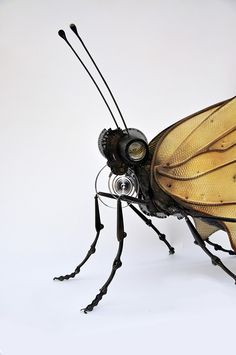 Amazing insect sculptures from found / repurposed parts.