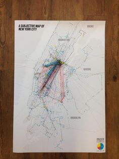 A subjective map of New York City by Vincent Meertens