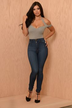 ededcb28e4a495 All That Bodysuit - Heather Grey Fashion Nova Tops
