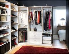 Ankleidezimmer dachschräge ikea  IKEA PAX Kleiderschrank. Inspiration und verschiedene ...