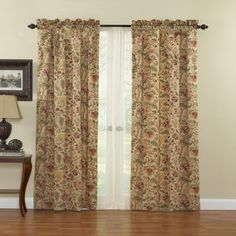 WAVERLY Curtains for Bedroom - Imperial Dress x Decorative Single Panel Rod Pocket Window Treatment Privacy Curtains for Living Room, Antique Waverly Curtains, Waverly Bedding, Privacy Curtains, Drapes Curtains, Drapery, Curtains Living, Bedroom Curtains, Blackout Curtains, Floral Room