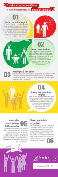 Infographie - améliorer le niveau d'engagement sur les réseaux sociaux
