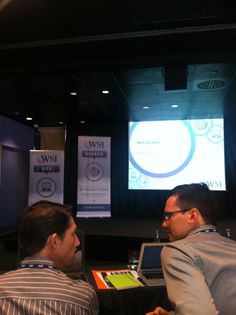 Conference. WSI - the global digital agency - discusses a number of topics such as #sicialselling and #ASEO