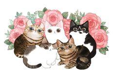 I Love Cats, Cute Cats, Baby Animals, Cute Animals, Gato Anime, Kawaii Chibi, Cat Wallpaper, Cat Drawing, Cat Art