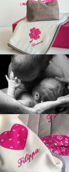 Babydecke aus Bio-Baumwolle und personalisierter Bestickung