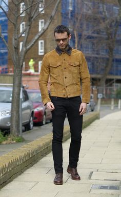 #levis suede jacket perfect for spring to add some cool colour into your wardrobe! #style #fashion #menswear