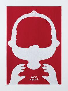 """La agencia de publicidad  BBDO Kuala Lumpur en Malasia ha preparado 3 gráficas muy chulas y minimalistas para la marca de comida rápida KFC: """"So Good"""""""