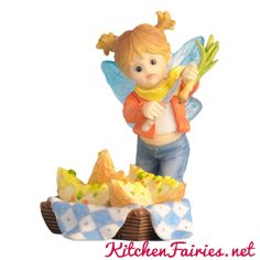 Potato Skin Craving Fairie - From Series Thirty Eight of the My Little Kitchen Fairies collection