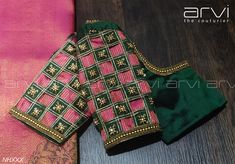 Arvi the couturier. Contact : 0422 434 Arvi the couturier. Saree Jacket Designs, Cutwork Blouse Designs, Wedding Saree Blouse Designs, Simple Blouse Designs, Stylish Blouse Design, Blouse Neck Designs, Blouse Patterns, Hand Work Blouse Design, Diana