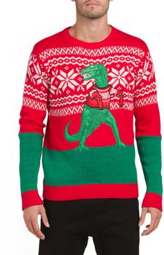 T Rex Holiday Christmas Sweater
