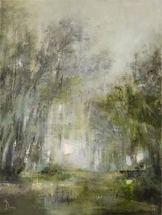 Janet Dirksen: Verdure: fine art | StateoftheART South African Art, Living Room Green, Bathroom Art, Office Art, Impressionism, Original Artwork, Landscape, Canvas, Gallery