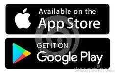 Icons App Store Google play colors vector illustration #download #logo #upload #svg #eps #pn