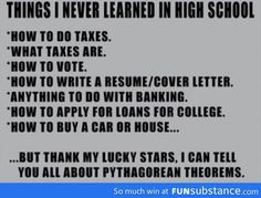 Things I never learned in high school...I actually learned how to vote and how to write a resume and cover letter