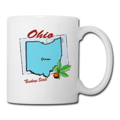 Ohio Coffee/Tea Mug sold exclusively at PersonalizedSouvenirs.com.