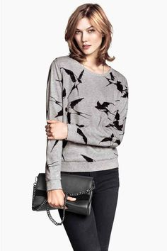 Felpa | H&M #swallows #sweatshirt