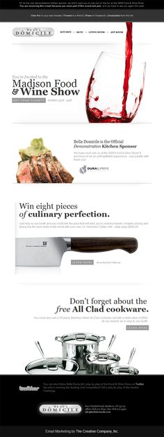 Bella Domicile » Beautiful Email Newsletters