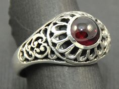 Lovely Sterling Silver and Garnet Filigree by williamhowardjewelry, $150.00